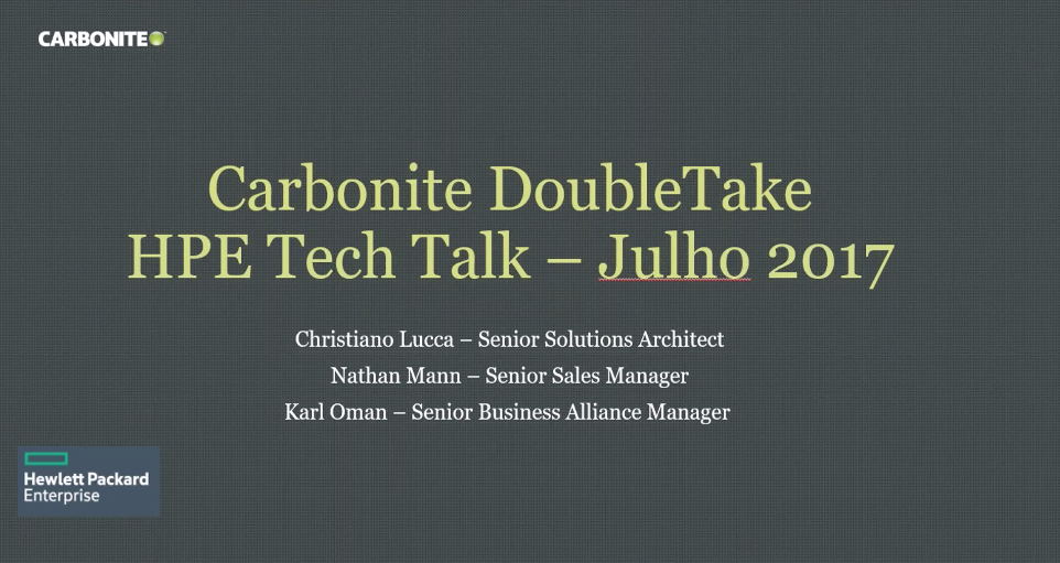 Tektalk: Double-Take by Carbonite - Solutions Overview